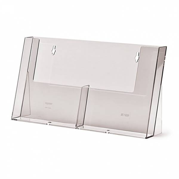 Taymar® Brochure Holder Counter/Wall 2x A5 Portrait Wide