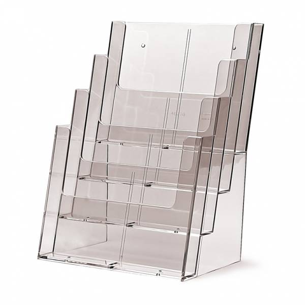 Taymar® Brochure Holder Counter/Wall 4x A4 Portrait