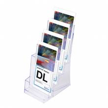 Scritto® Brochure Holder Counter/Wall 4x 1/3 A4 Portrait