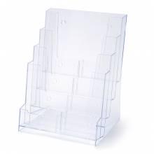 Scritto® Brochure Holder Counter/Wall 4x A4 Portrait