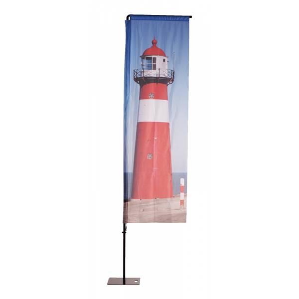 Beach Flag Alu Square Graphic