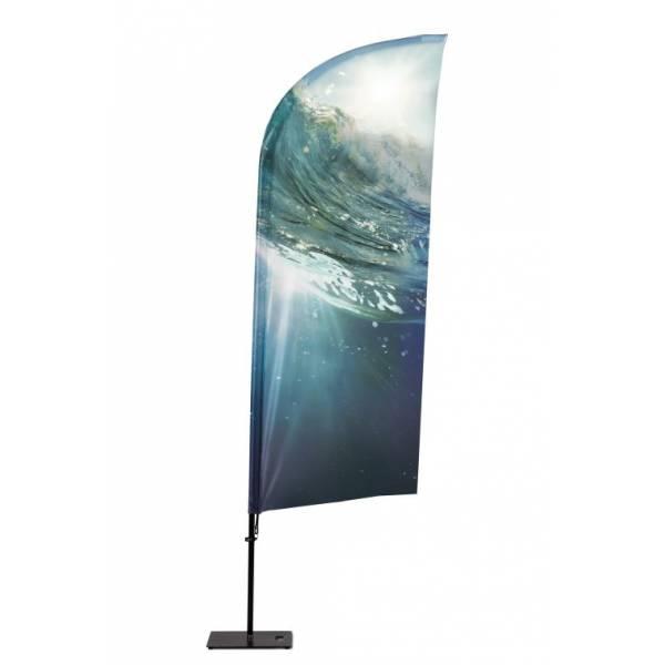 Beachflag Alu Wind 255cm Total Height