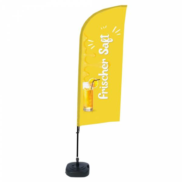Beach Flag Alu Wind Complete Set Fresh Juice
