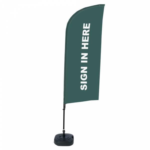 Beach Flag Alu Wind Complete Set Sign In Here