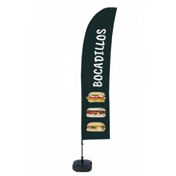 Beach Flag Budget Wind Complete Set Sandwiches Spanish