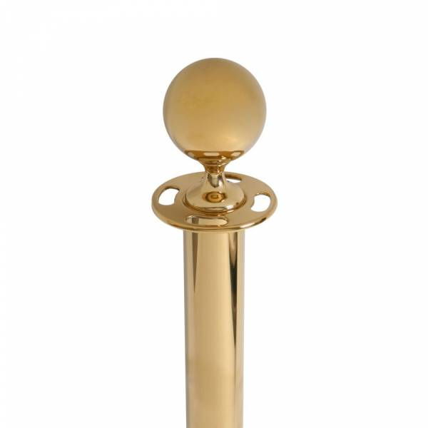 Barrier Gold Rope Stand With Ball Top