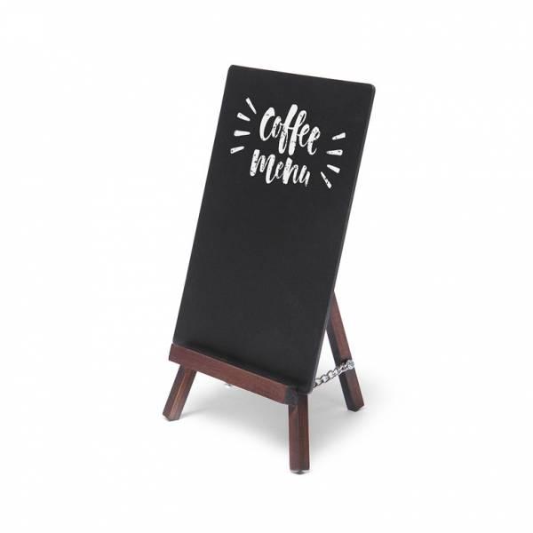 Natura Table Top Chalk Board Mini Easel Dark Brown