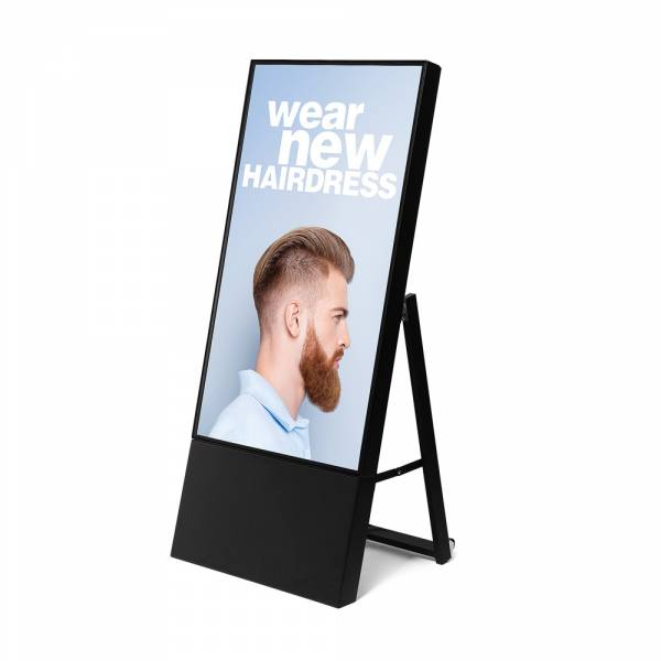 "Smart Line Digital A-Board Black With 43"" Samsung Screen"