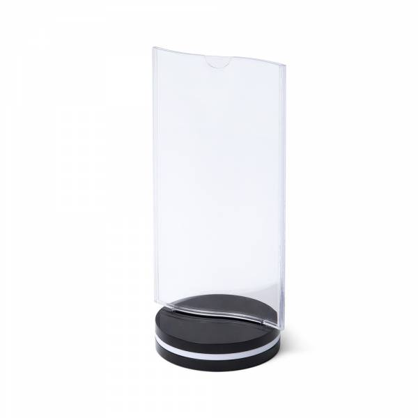 Menu Card Holder with flat pocket and oval base