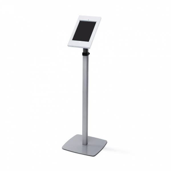 Lockable Ipad Floorstanding Telescopic Silver