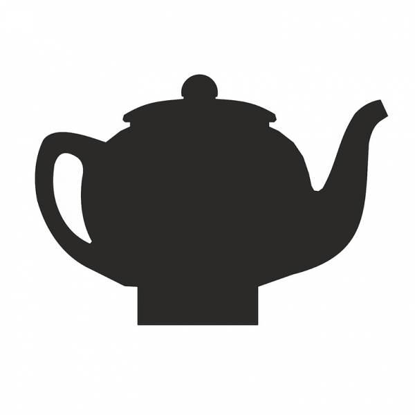 Table Top Wooden Design Panel Teapot