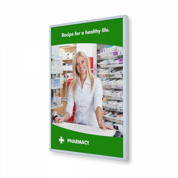 8mm wide Insert Wall Poster Frame with slide in print A3