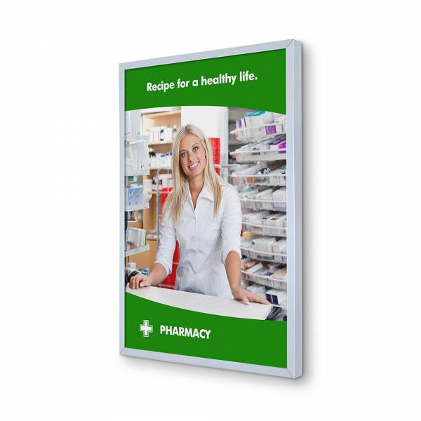 6mm wide Insert Wall Poster Frame with slide in print A4