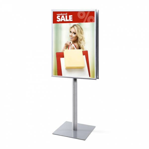 Info Pole 70x100 25mm mitred corners double sided