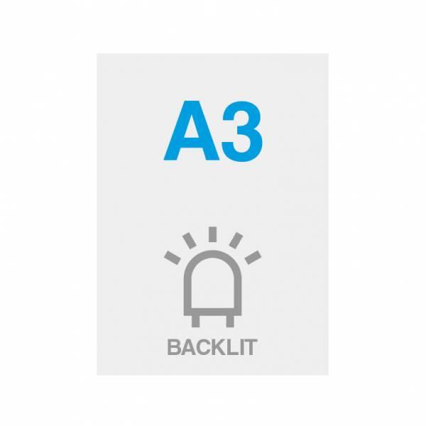 Premium Backlit Film 285g/m2 Satin Surface A3