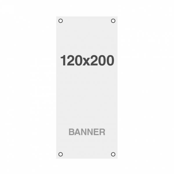 Premium banner print, No Curl 220g / m2, matte finish, 120x200cm