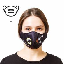 Protective mask, cotton and Soft Knit (2 layers), size L for adults