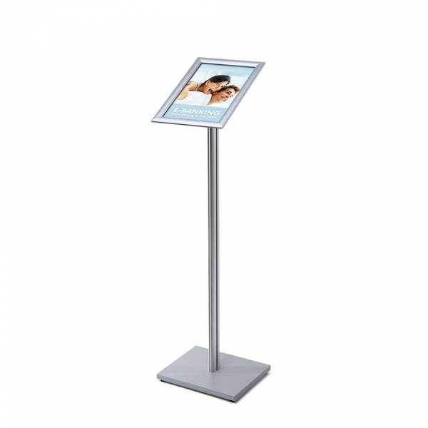 A4 Menu Display Stand , 25 mm, SECH pole, wood base