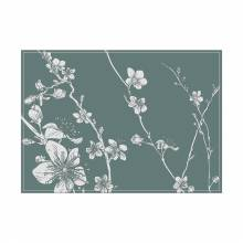 Placemat Abstract Japanese Cherry Blossom