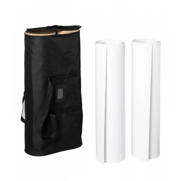 Pop-Up Fabric Premium Round Side Panels 68cm