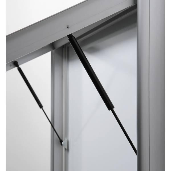 Premium Extra Deep Outdoor Lockable Noticeboard with Dry Wipe panel