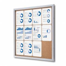 Cork Indoor Lockable Showcase With Safety Corners 12x A4