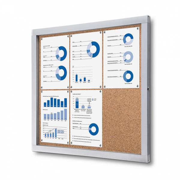 Cork Indoor Lockable Showcase With Safety Corners 6x A4