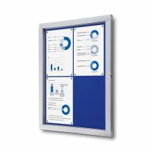 Lockable Notice Board SCOF, BLUE, 4xA4