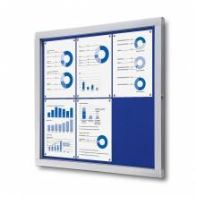 Lockable Notice Board SCOF, BLUE, 6xA4