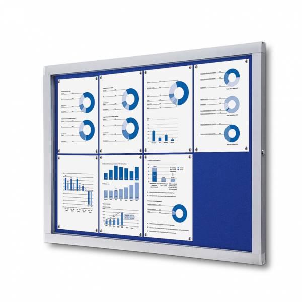 Lockable Notice Board SCOF, BLUE, 8xA4