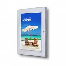 Lockable Poster Case - Silver - Weather resistant