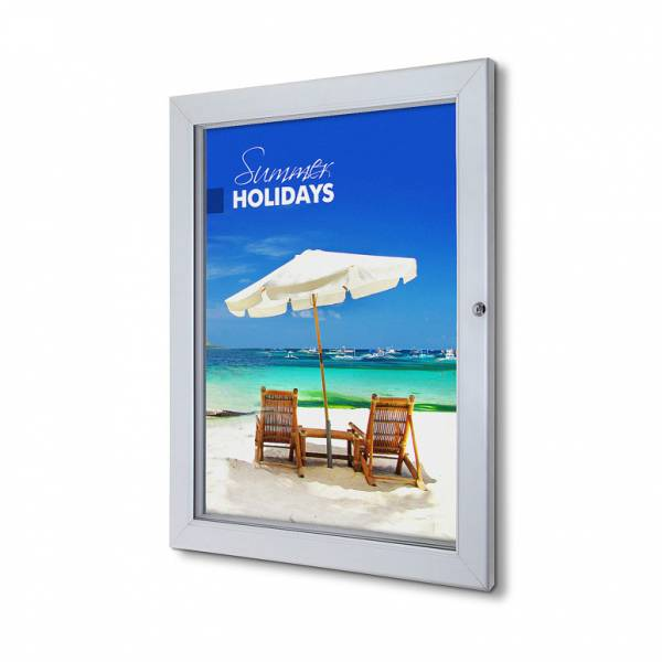 Lockable Poster Case With Metal Backwall And Writable Surface 50 x 70 cm
