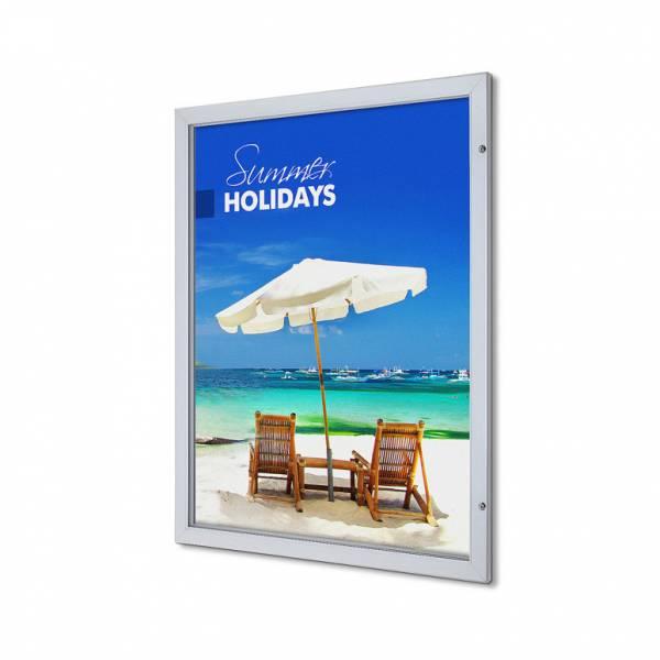Quad Royal Lockable Poster Case Premium