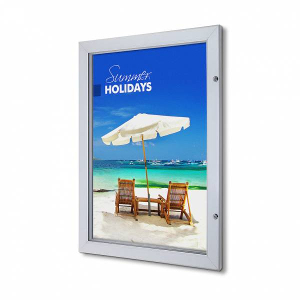 Lockable Poster Case With Metal Backwall And Writable Surface A1