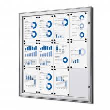 Indoor Lockable Showcase Silver 12x A4