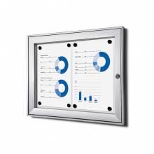 Indoor Lockable Showcase Silver 2x A4