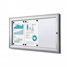 Indoor Lockable Showcase Silver B1 Fire Rated 3x A4