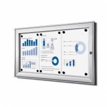3xA4 Lockable Dry Wipe Noticeboard