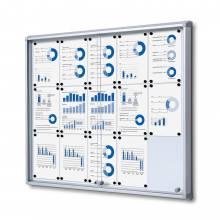 15xA4 Dry Wipe Indoor Lockable Noticeboard with Sliding Doors