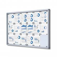 18xA4 Dry Wipe Indoor Lockable Noticeboard with Sliding Doors