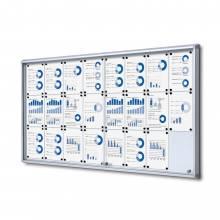 Indoor Lockable Showcase With Sliding Doors 24x A4