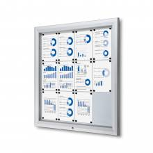 Outdoor Lockable Showcase With Gas Spring 12x A4