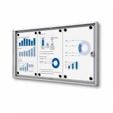 Indoor Lockable Showcase Economy 3x A4