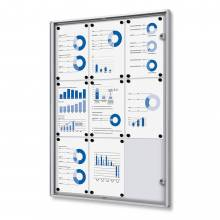 9xA4 Indoor Lockable Noticeboard Economy