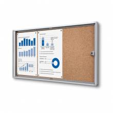 Cork Indoor Lockable Showcase Economy 3x A4