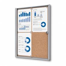 4xA4 Indoor Lockable Cork Noticeboard