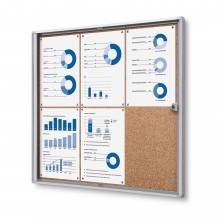6xA4 Indoor Lockable Cork Noticeboard