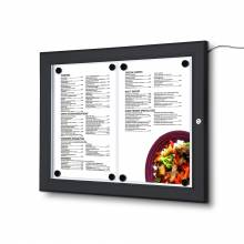 Black Outdoor Menu LED Illuminated 2x A4