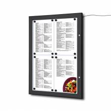 Black Outdoor Menu LED Illuminated 4x A4