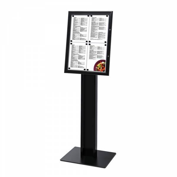 Black Freestanding Menu Pole Non-Illuminated 4x A4